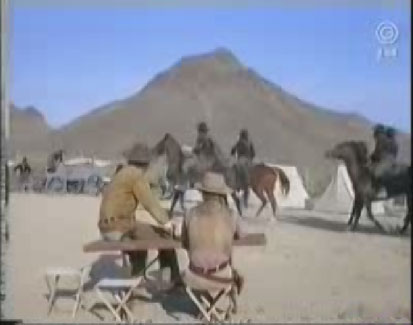 Don Collier as Sam Butler, Mark Slade as Blue Cannon in High Chaparral episode Buffalo Soldiers