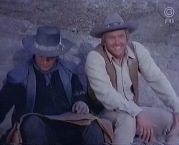 Cameron Mitchell and Denny Miller in High Chaparral