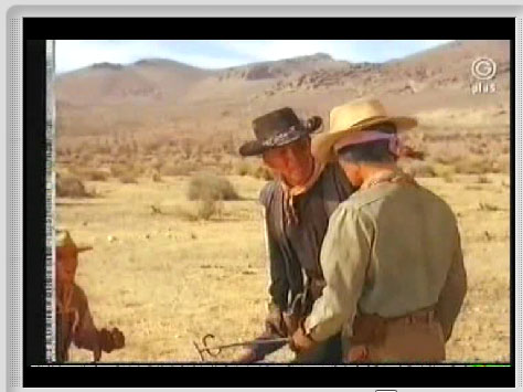 High Chaparral branding iron can be seen in this clip from the episode Bad Day for a Thirst