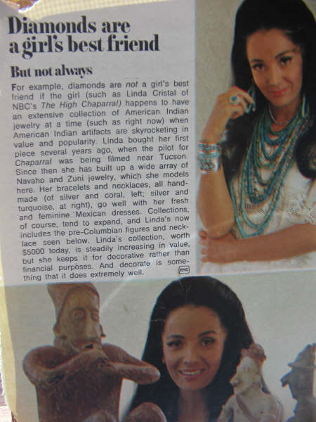 Linda Cristal TV Guide article
