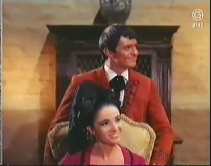 Linda Cristal as Victoria Cannon in The High Chaparral