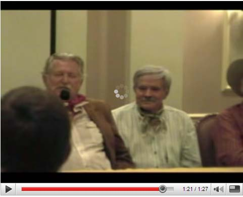 Don Collier and Bob Hoy at the 2005 High Chaparral Reunion