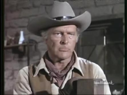 Cmeron Mitchell and Leif Erickson in The High Chaparral