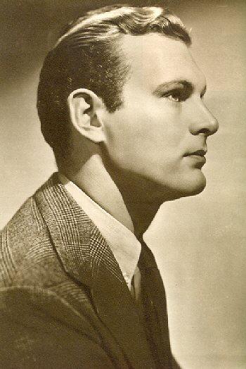 Leif Erickson como un joven actor